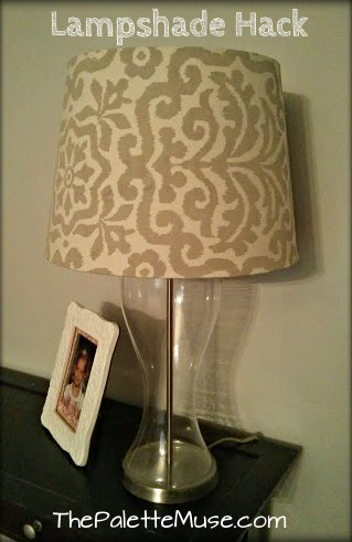 lamp shade hack the palette muse - How To Fix A Lamp