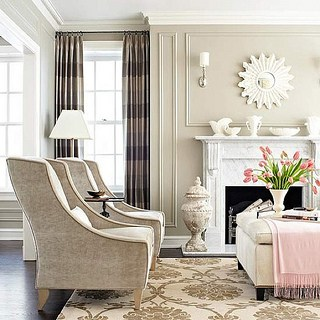 A Living Room in Transitional Style