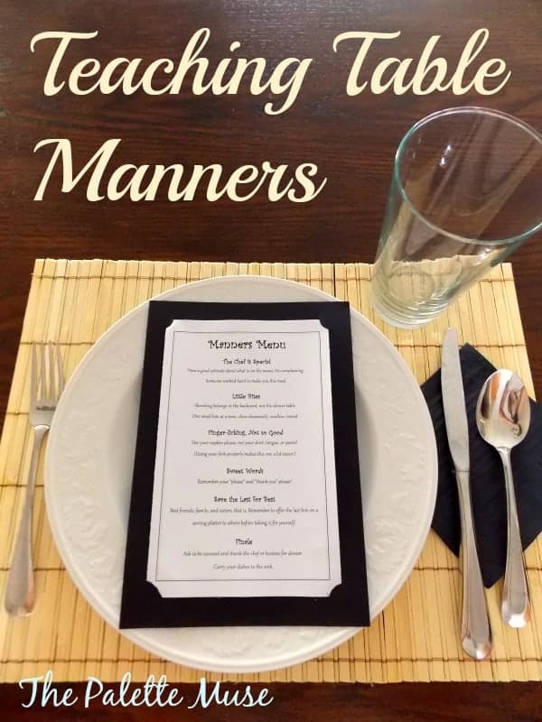 Teaching teens table manners