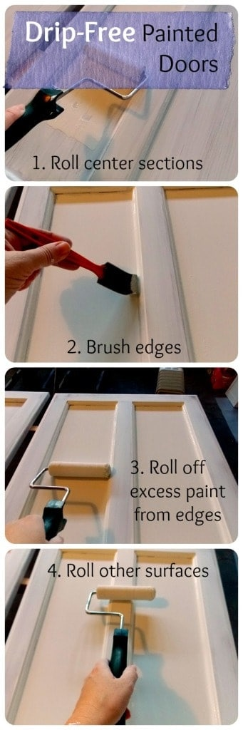 The secret to drip-free, mess-free painted cabinet doors from thepalettemuse.com