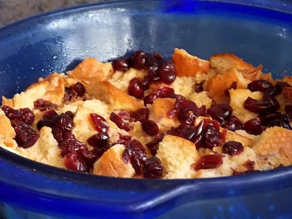 Bread Pudding Ready to go into Oven