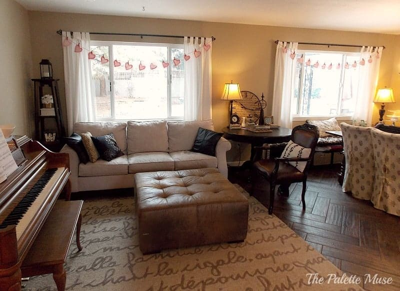 Living Room with Garlands