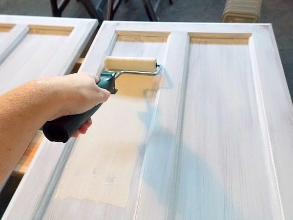 Remodelaholic how to paint cabinet doors for What kind of paint do you use to paint glass