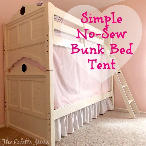 How to make bunk bed curtains - Simple No Sew Bunk Bed Tent The Palette Muse