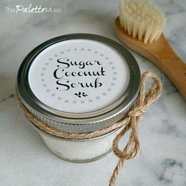 Coconut Oil Sugar Scrub Free Printable Lid Label