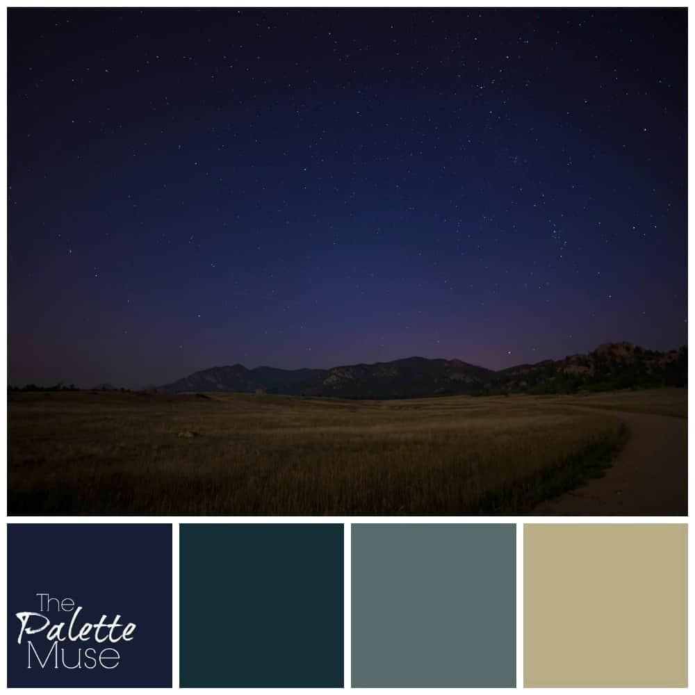 Картинки с палитрой цветов ночной, анимация