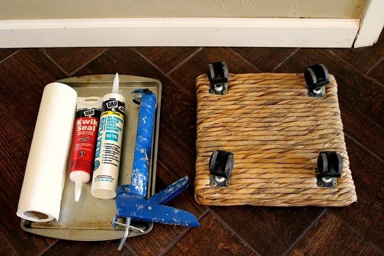 Baseboard Caulking Tools and Materials