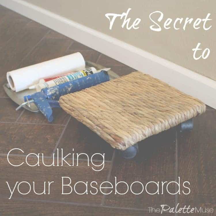 The trick to baseboards the palette muse for Cost to paint baseboard