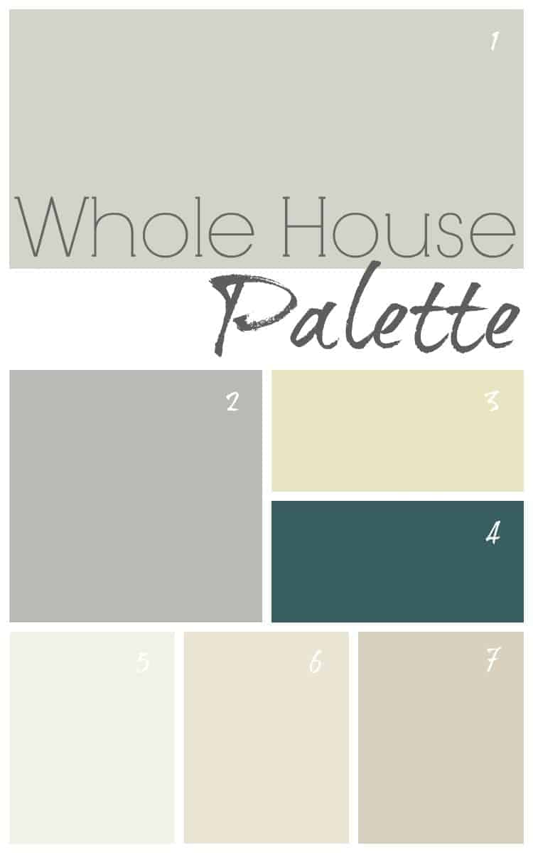 Modern farmhouse color palette for your whole home.