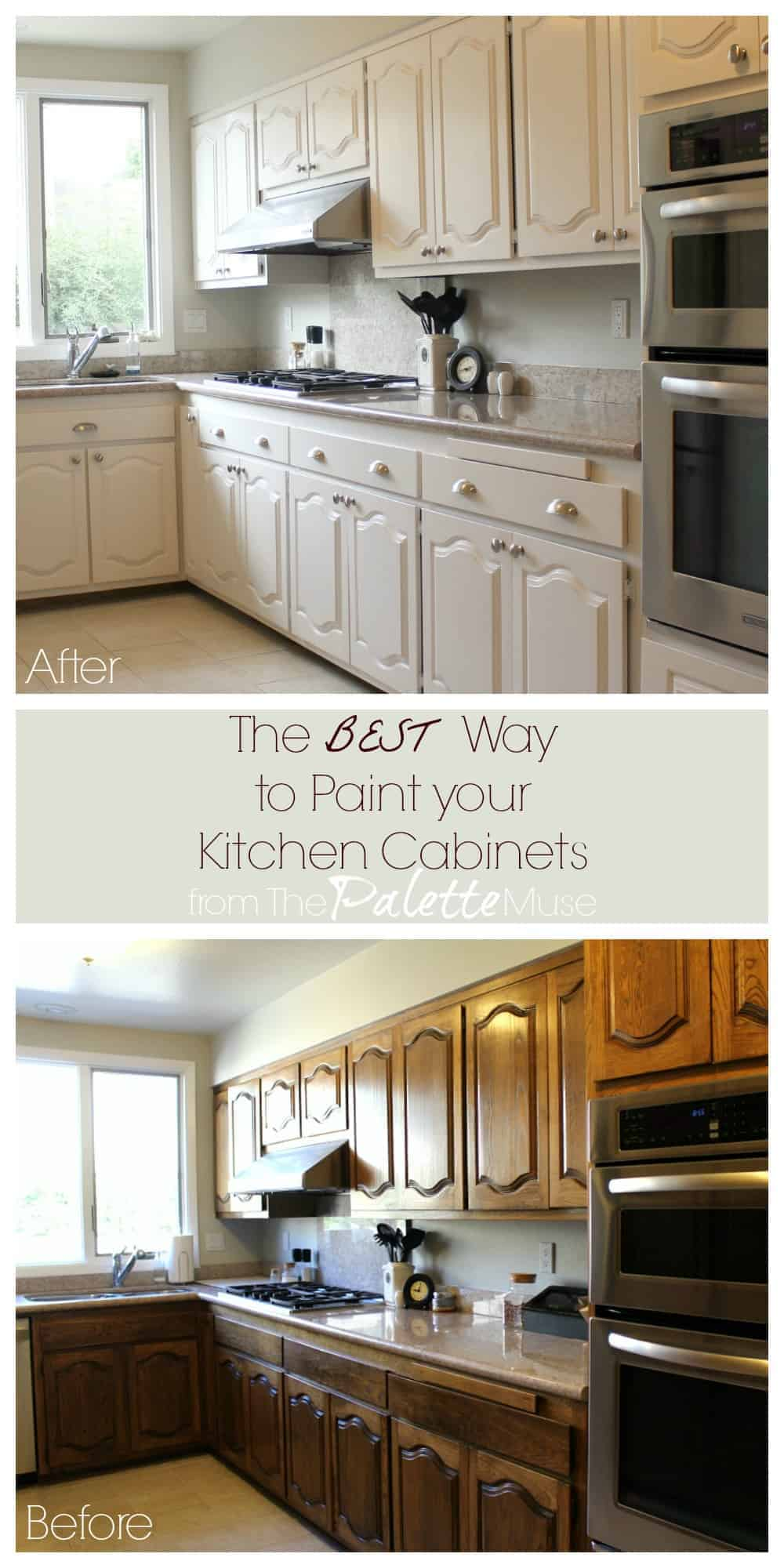 The Best Way To Paint Kitchen Cabinets No Sanding Palette Muse