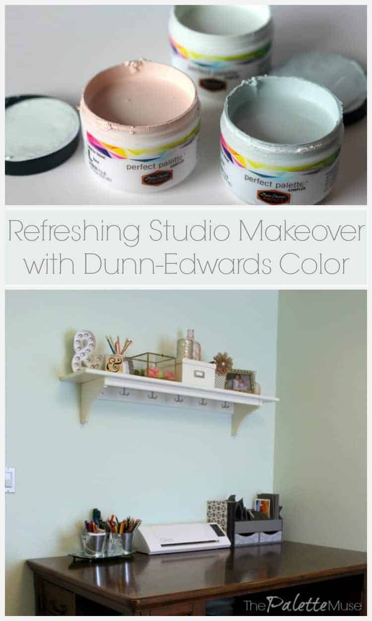 Image of: Dunn Edwards Color To The Rescue In My Studio The Palette Muse