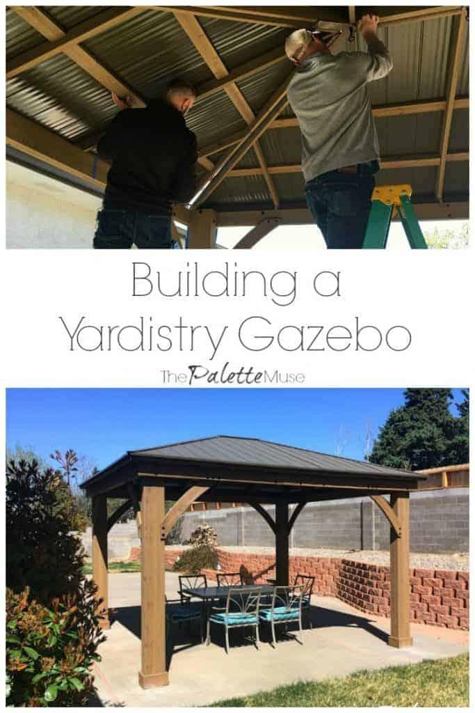Building a Yardistry 12x14 Gazebo in our backyard