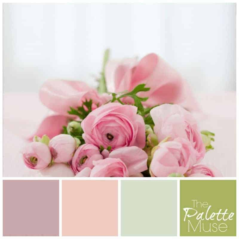 Pretty pink palette with a range of pastel colors
