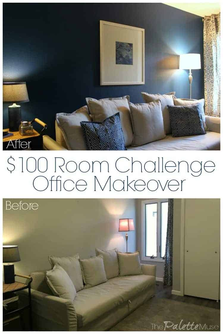 $100 Room Challenge Office Makeover Before and After