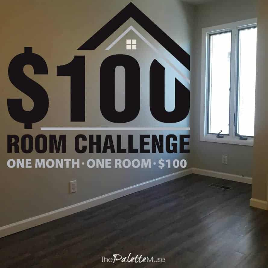 $100 room challenge in our office, one month, one room, $100