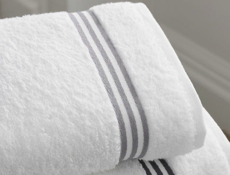 Fluffy bath towels in a vacation rental property