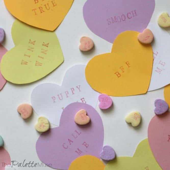 Easy Crafty Paper Conversation Hearts