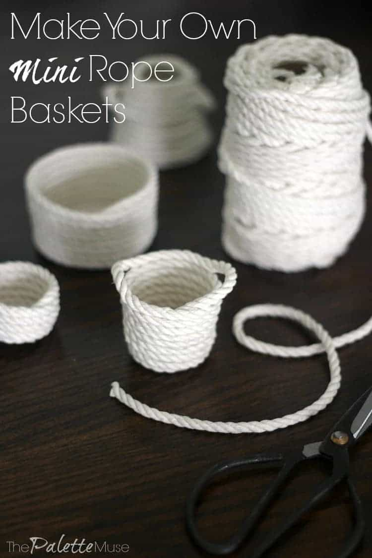 Make your own mini rope baskets