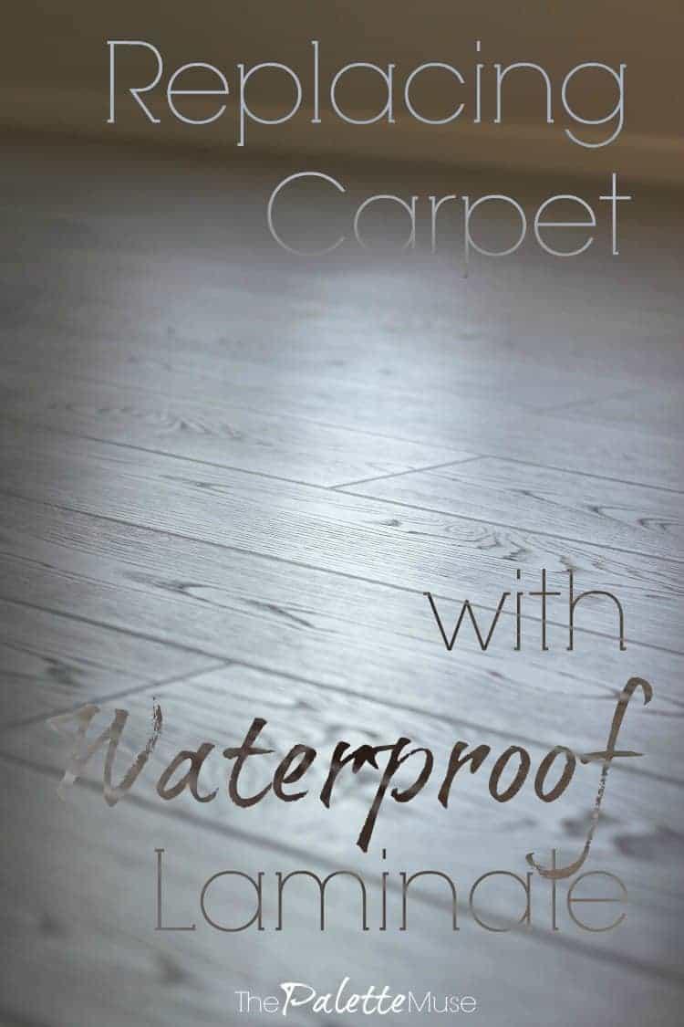 Replacing Carpet with Waterproof Laminate