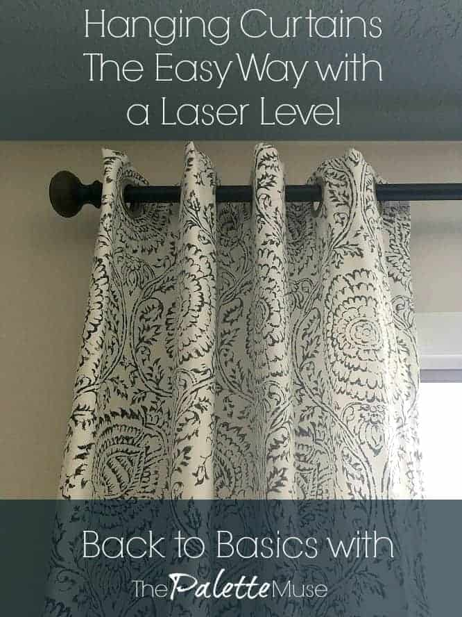 Hanging Curtains the Easy Way with a Laser Level
