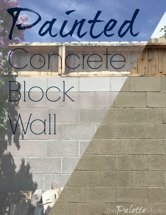 Painted Concrete Block Wall