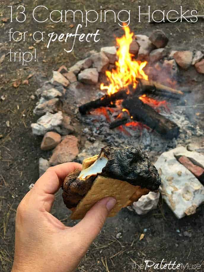 13 camping hacks for a perfect trip - s'mores in front of the campfire
