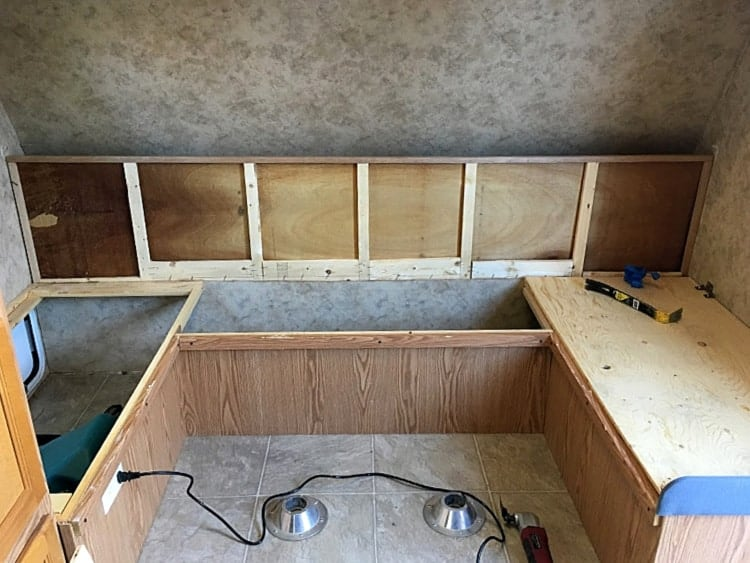 Rebuilding the bed frame in our camper
