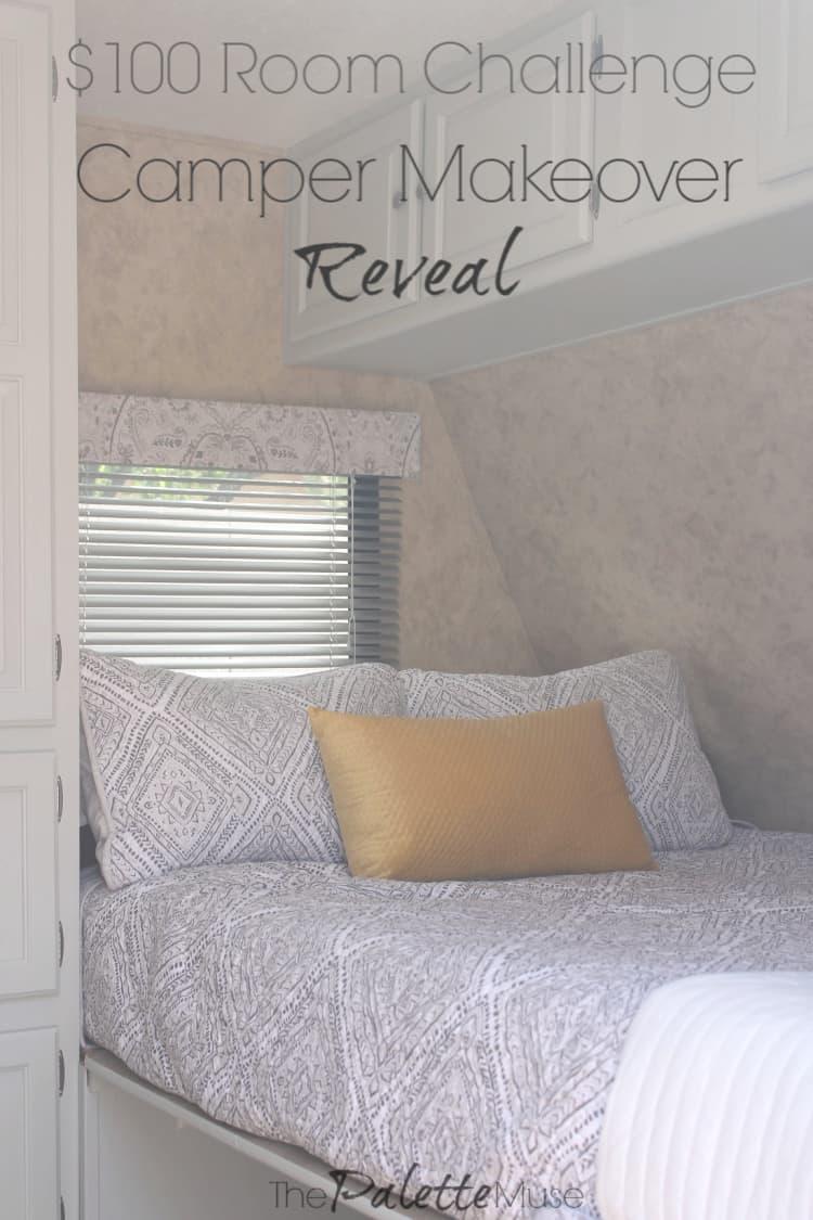 $100 Room Challenge Camper Makeover Reveal