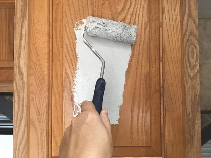 How To Paint Laminate Cabinets Without, How To Cover Laminate Kitchen Cabinets