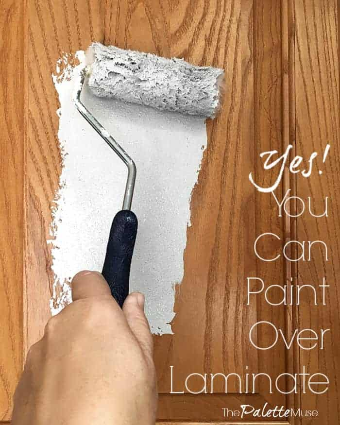 Yes! You can paint over laminate.