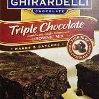 Ghirardelli Triple Chocolate Brownie Mix (Makes 3 Batches, 60 OZ box)