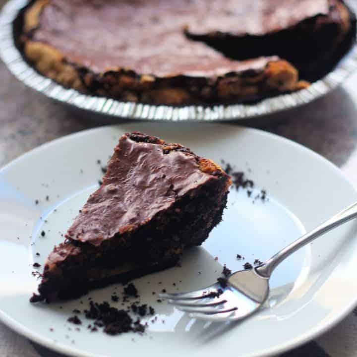 Triple Chocolate Brownie Pie