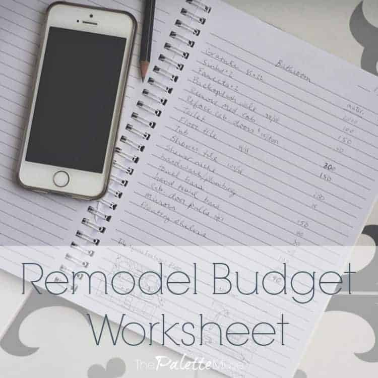 How to use a remodel budget worksheet to save money