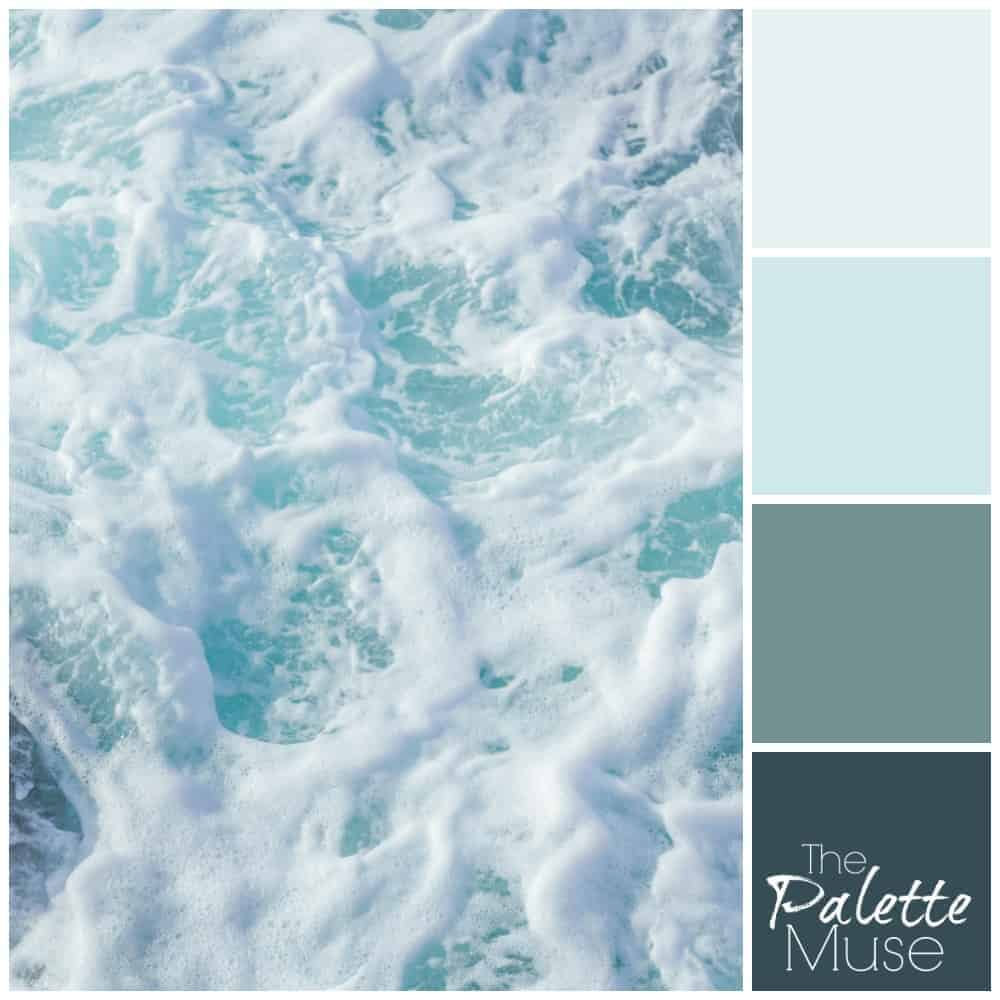 Blue and Green Seafoam Palette