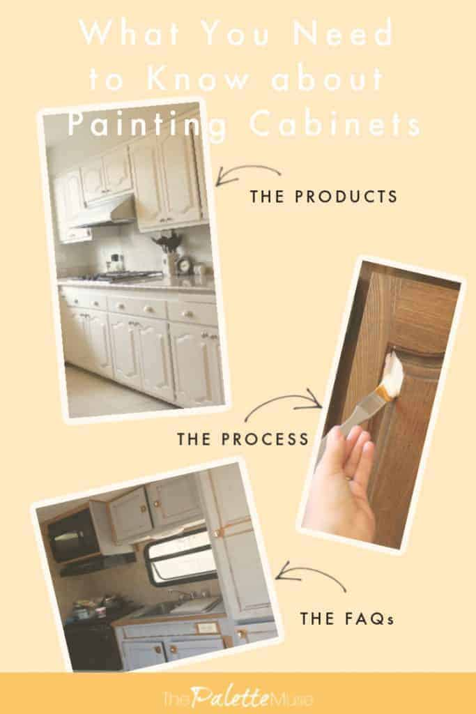 What you need to know about painting kitchen cabinets, the products, the process and the FAQs.
