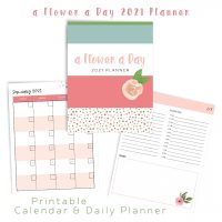 A Flower A Day Printable Planner 2021
