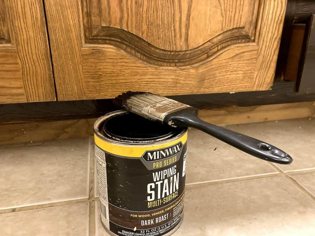 Staining cabinets with Minwax gel stain