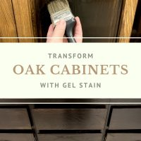 Transform oak cabinets with gel stain