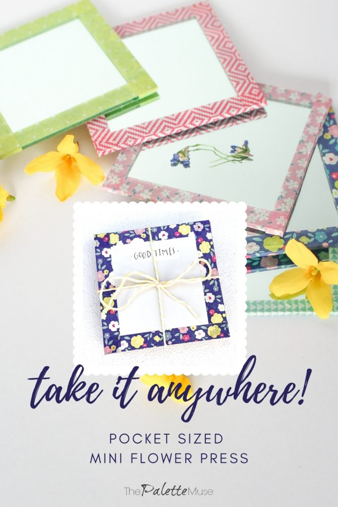 Take this homemade flower press anywhere you go!