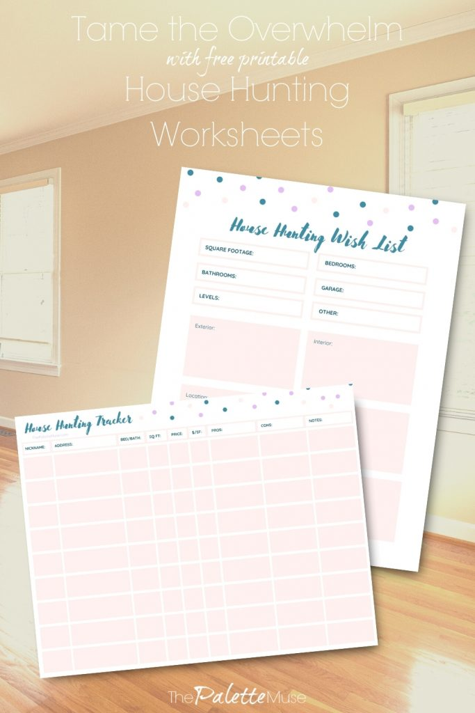 Tame the Overwhelm with Free Printable House Hunting Worksheets