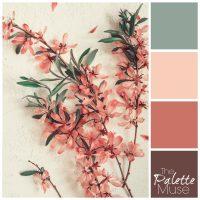 Spring floral palette