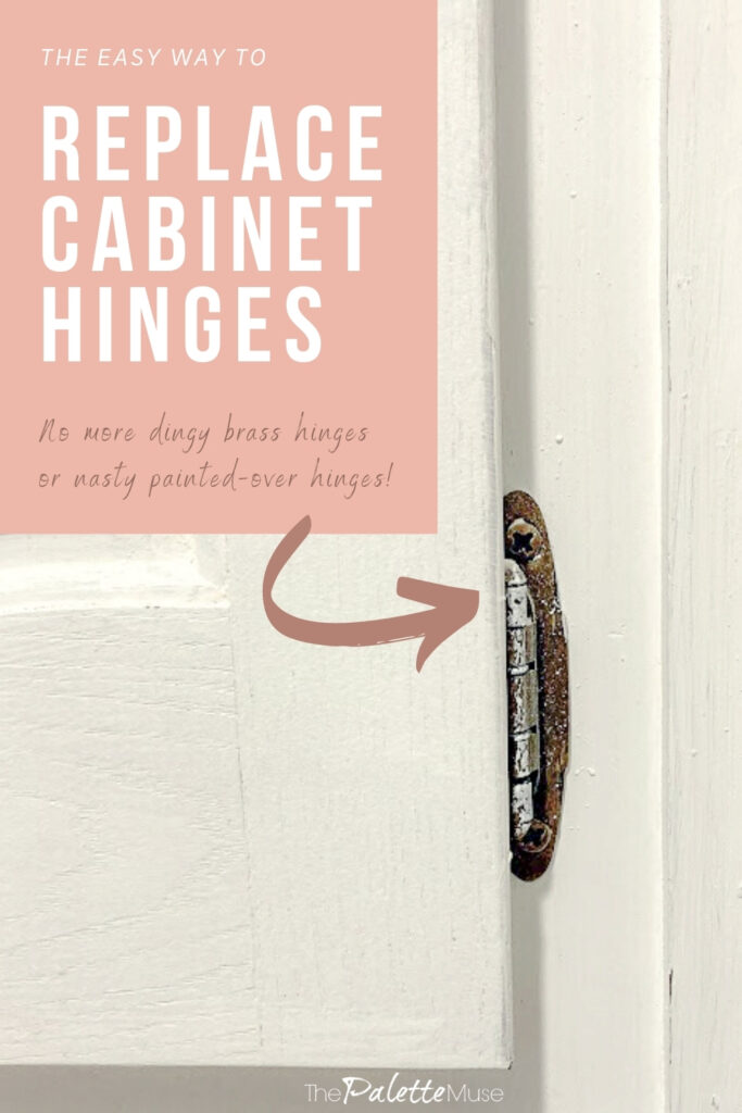 The easy way to replace cabinet hinges.