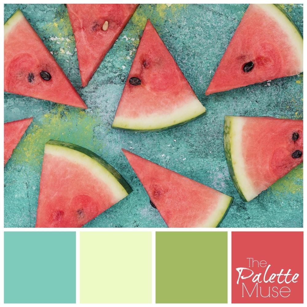Color palette based on watermelon slices