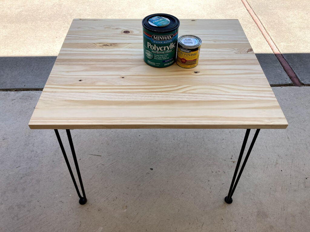 New dog crate cover table, ready to be stained with gray stain and polycrylic