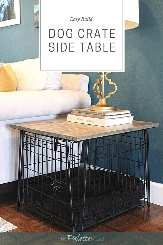 Easy Build Dog Crate Side Table