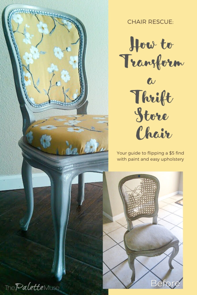 How to Transform a Thrift Store Chair with Paint and Upholstery